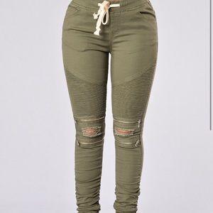 Fashion Nova Olive Skinny Jeans